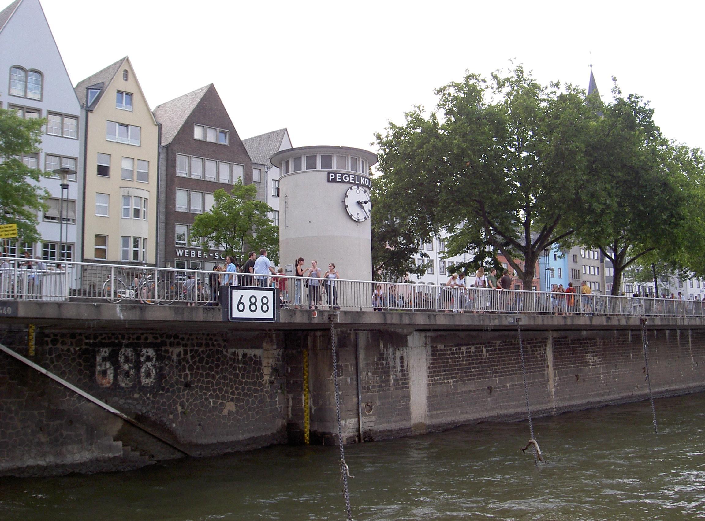 Der Pegel Köln und die BWaStr-Station 688 (Quelle: Schwandt, BfG Koblenz)