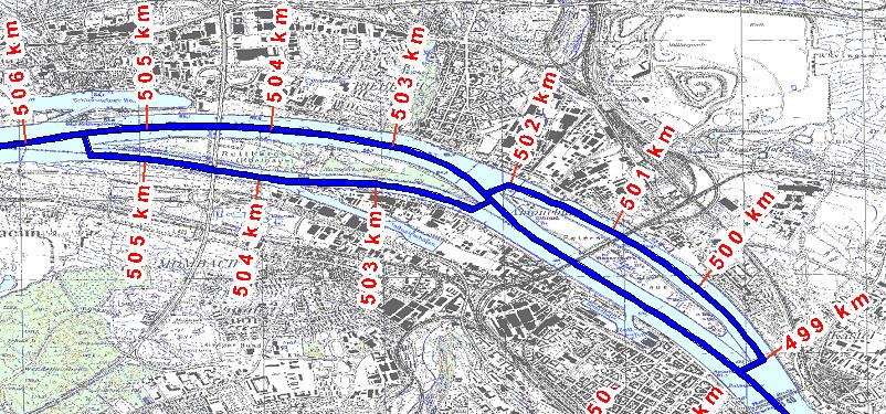 Gewässernetz im GIS