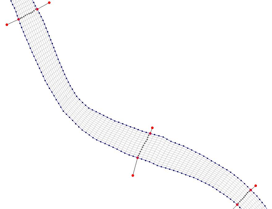 2D-Netz für den Flussschlauch
