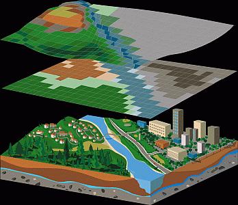 Mit Spatial Analyst können Sie hydrologische Daten visualisieren und bearbeiten.