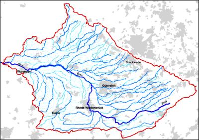 Das Einzugsgebiet der Oberen Ems