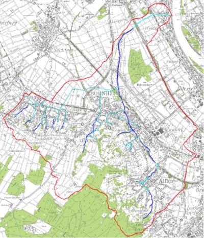 Einzugsgebiet des Bornheimer Bachs