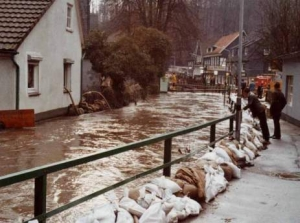 Hochwassersituation in Unterburg