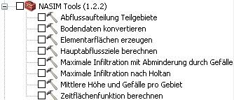 Die NASIM-Tools lassen sich in der ArcGIS Toolbox aktivieren.