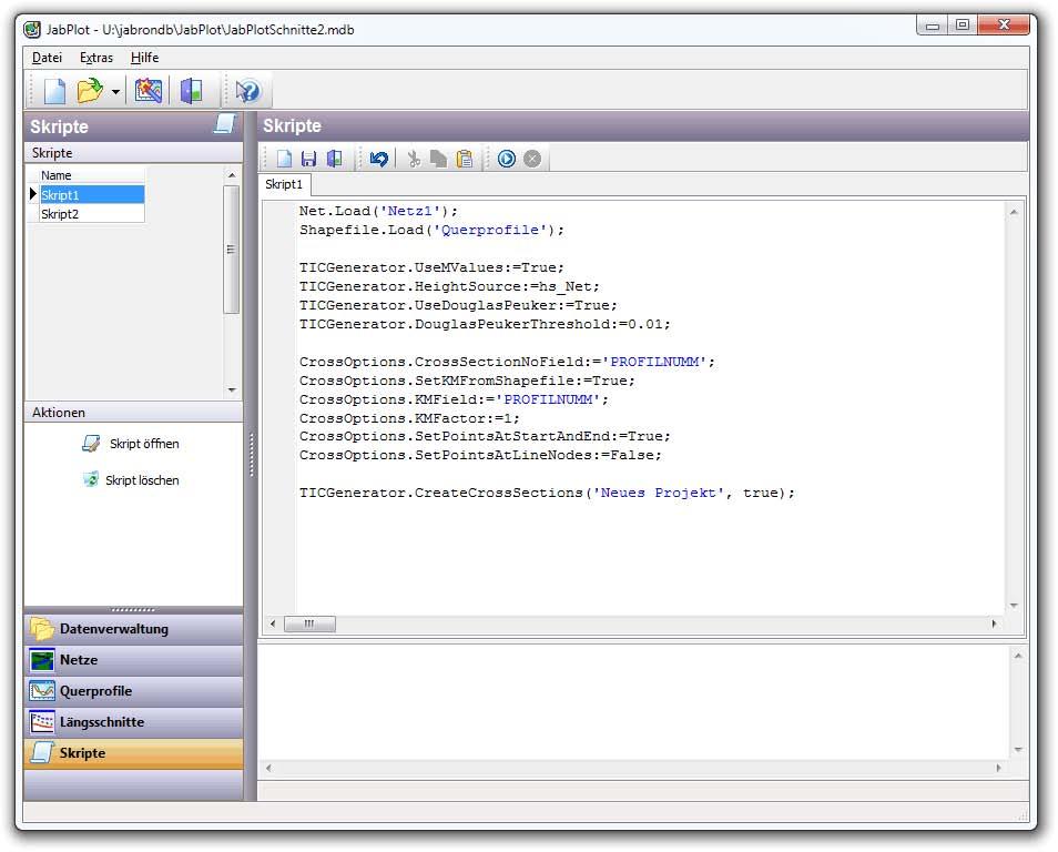 JabPlot Skript GUI