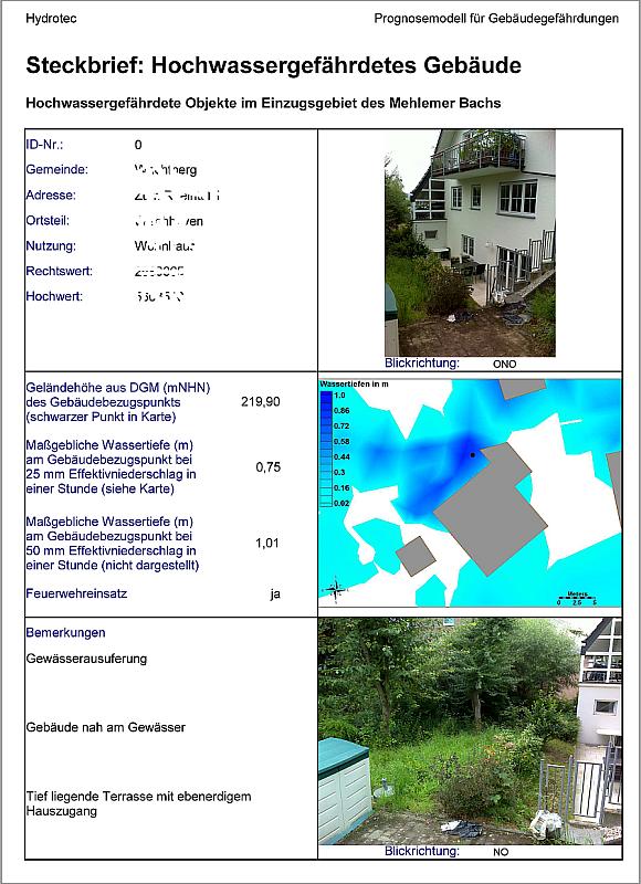 Steckbriefe liefern konkrete und anschauliche Angaben zur Gefährdung bestimmter Gebäude