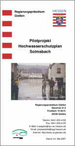 Informationsbroschüre zum HWSP Solmsbachtal