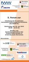 """Hydrotec präsentiert """"HWRM-Planung in NRW"""" im Rahmen des HWRM-Forums in Neustadt/Weinstraße"""