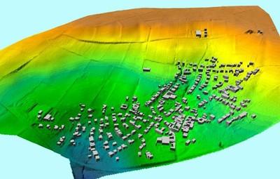 Detailmodell des Gebiets im 1x1-m-Raster