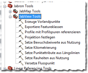 JabView-Toolbox in ArcGIS for Desktop