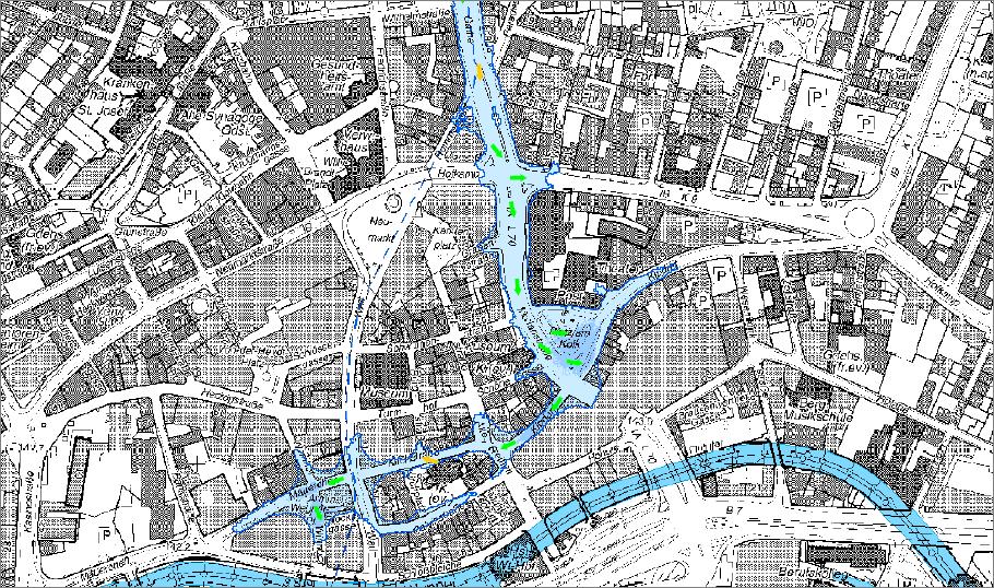 Das Überflutungsrisiko an dem Urbangewässer wurde mit verschiedenen Modellen eingehend untersucht.