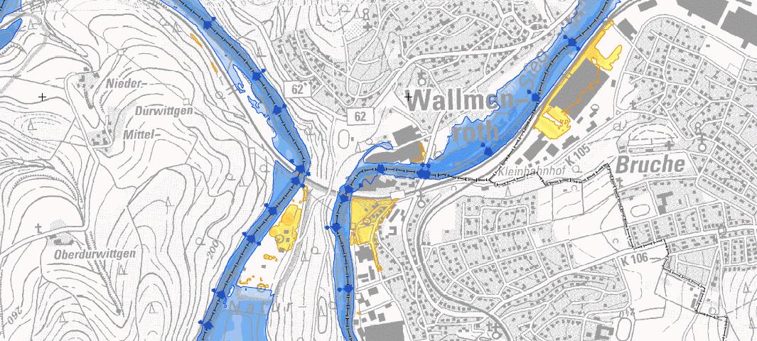 Hochwassergefahrenkarte