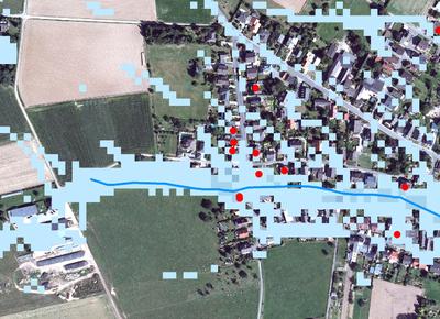 Konzept gegen urbane Sturzfluten: Stufe 1 Grobanalyse