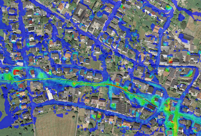 Konzept gegen urbane Sturzfluten für Kommunen: Stufe 2 Feinanalyse