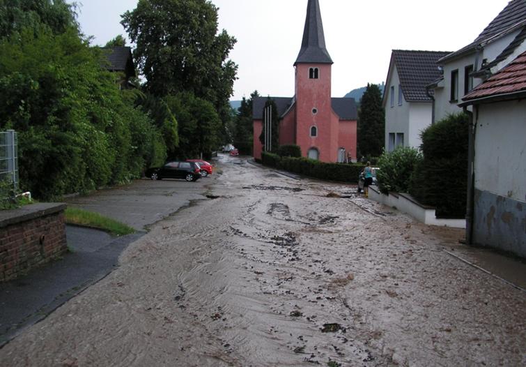 Urbane Sturzflut nach Starkregen