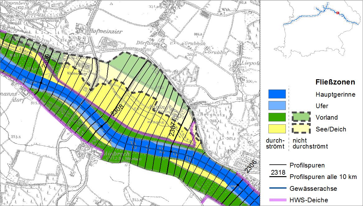 Fließzonen im GIS