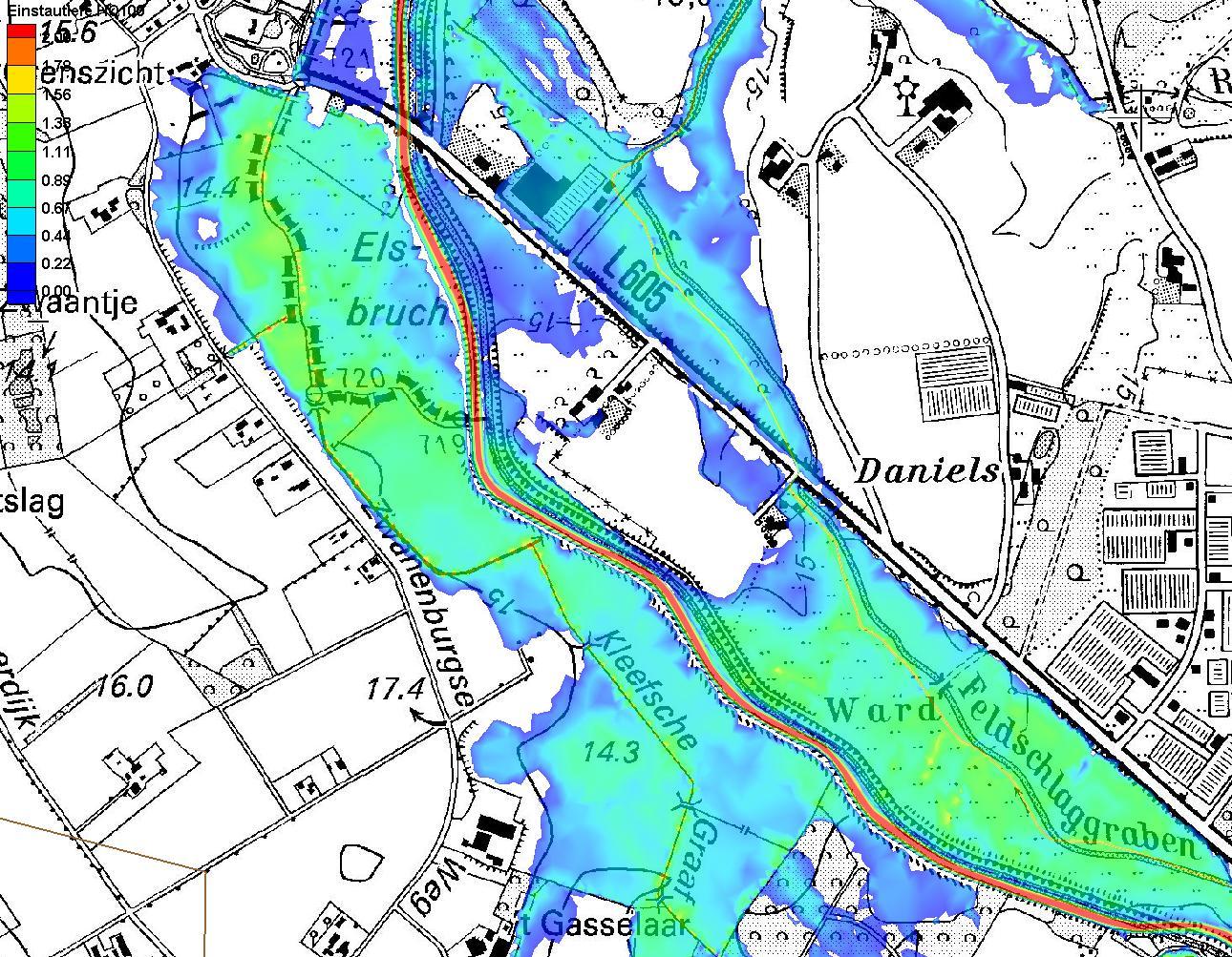 Hochwasserschutz - Karte Überschwemmungsgebiet