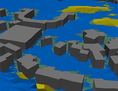 Mit dem 3D Analyst können Sie Einstautiefen berechnen und darstellen.