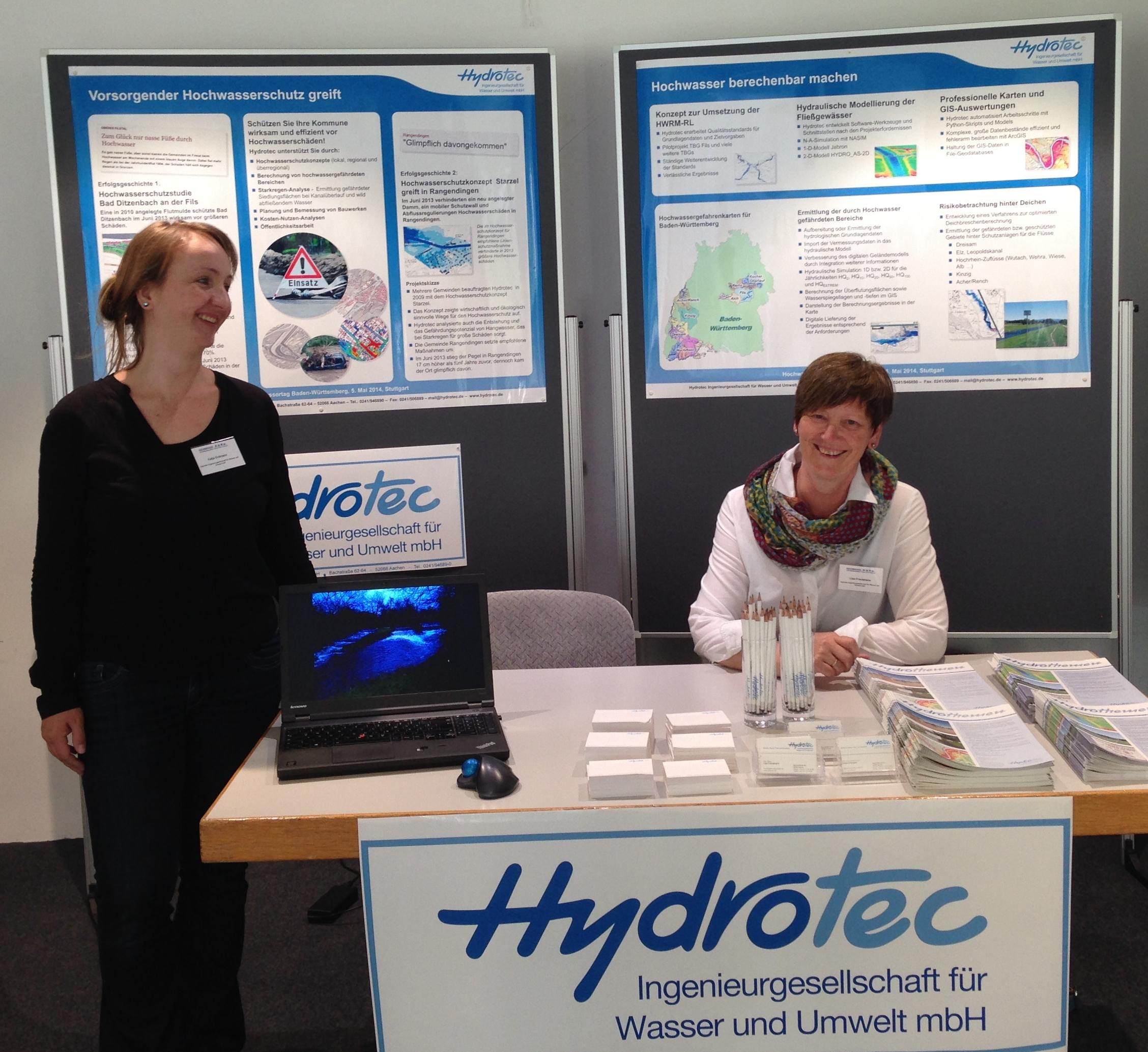 5. Mai 2014: Hochwassertag Baden-Württemberg - Zahlreiche Besucher am Hydrotec-Stand!