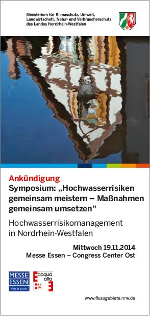 19.11.2014 - Symposium zum Hochwasserrisikomanagement in NRW