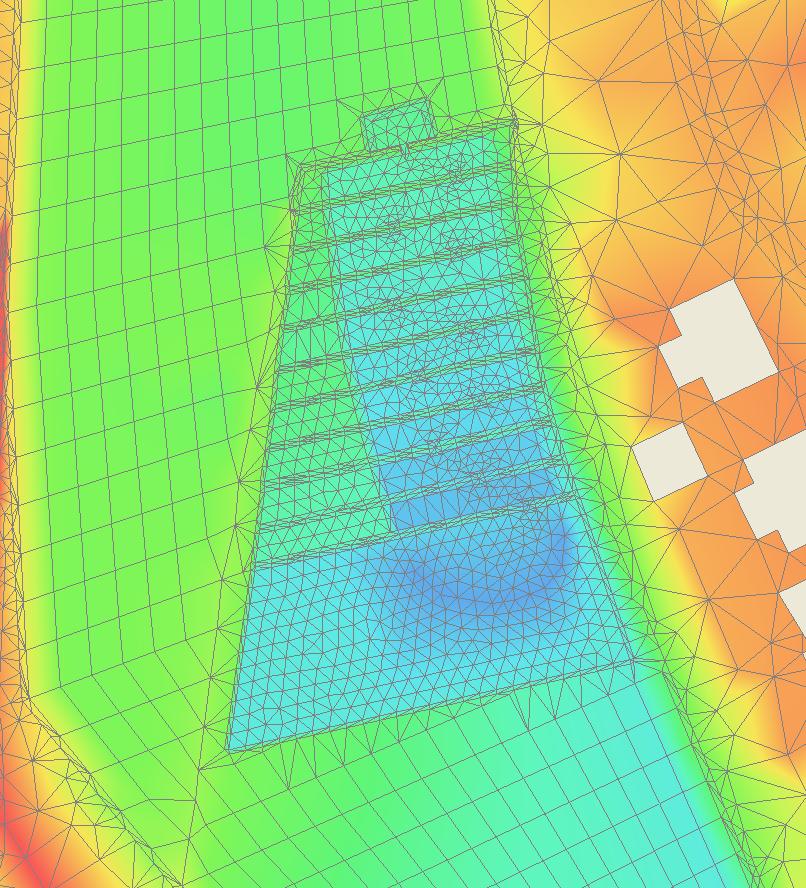 Umsetzung des Plans im 2D-Netz für HYDRO_AS-2D