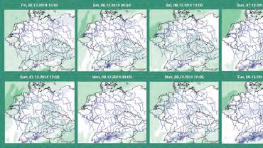 Wettervorhersagedaten auf einen Blick – automatisch generiert aus Delft-FEWS.