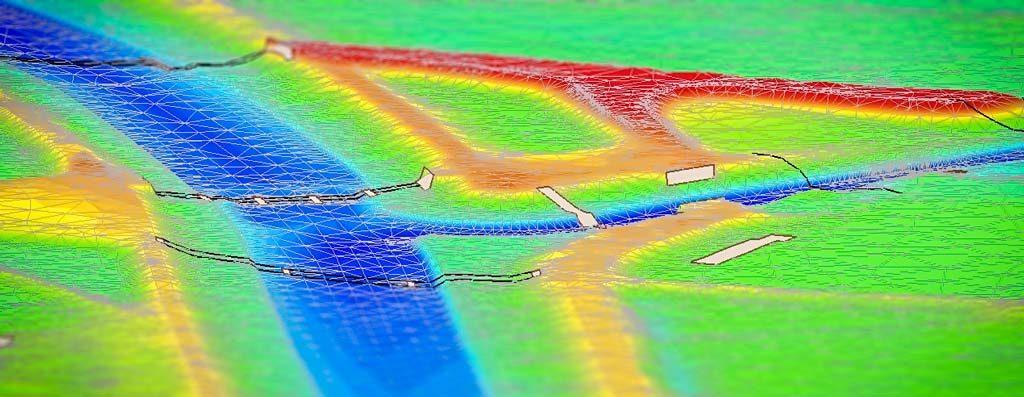 Modell Hochwasser hydraulik