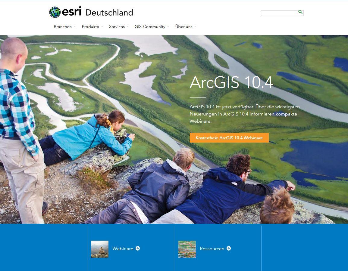 ArcGIS 10.4 verfügbar