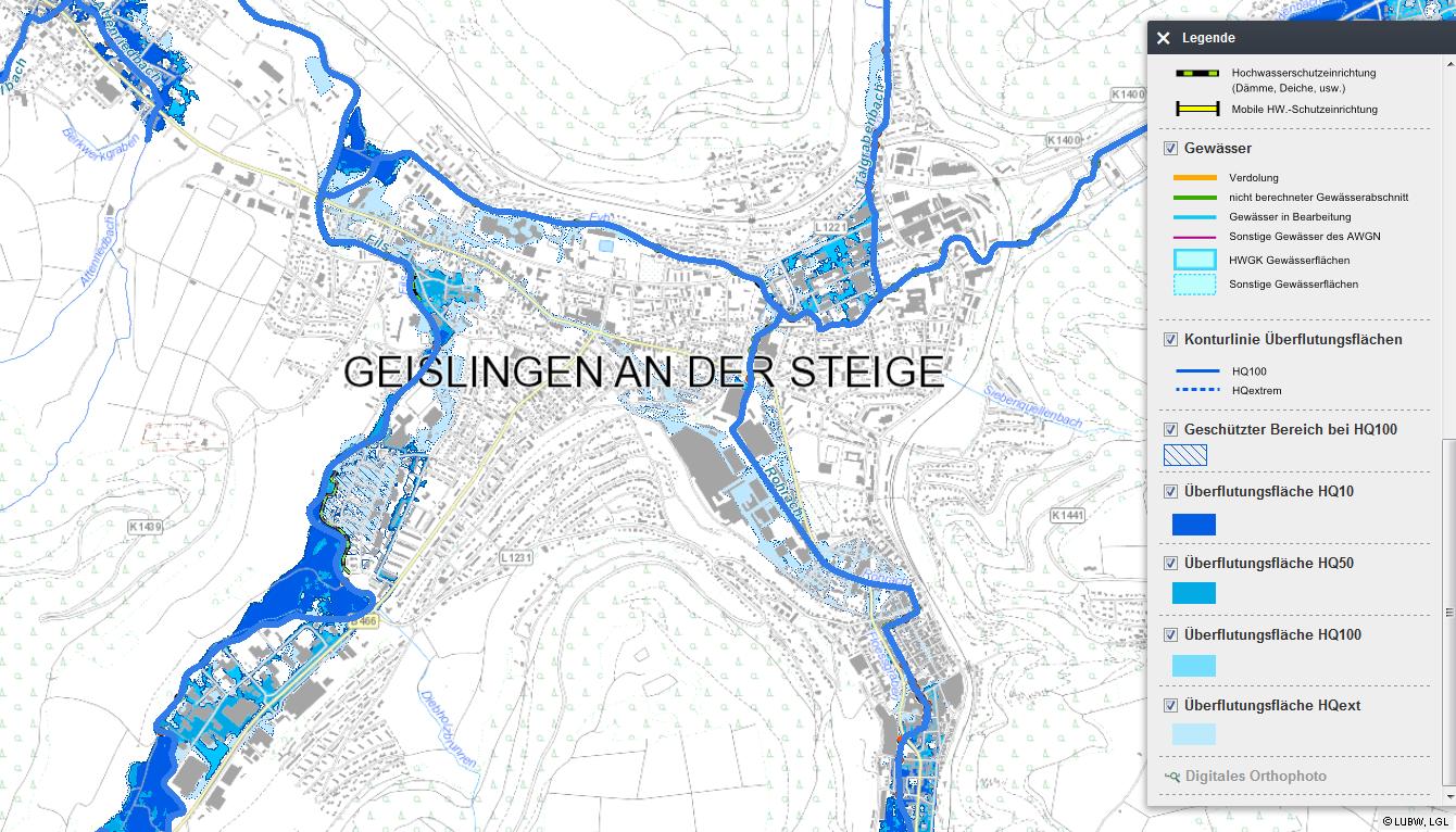 Hydrotec erstellte ein kommunales Hochwasserschutzregister für die Stadt Gesilingen an der Steige.