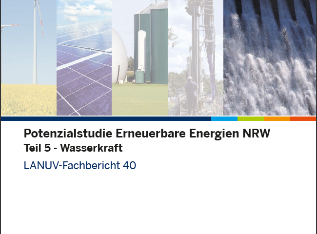 Titelseite Potenzialstudie Wasserkraft NRW