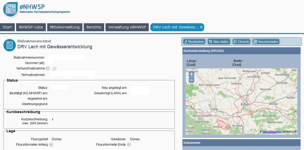 eGovernmentsystem eNHWSP - Detaildatenansicht