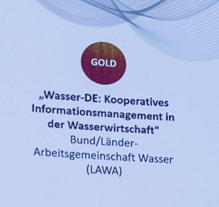 eGovernment-Preis 2018 für Wasser-DE