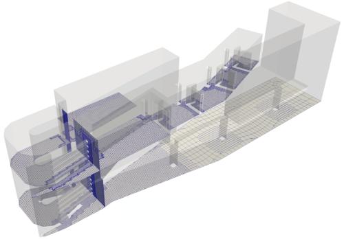 3D-Modell Fischaufstiegsanlage