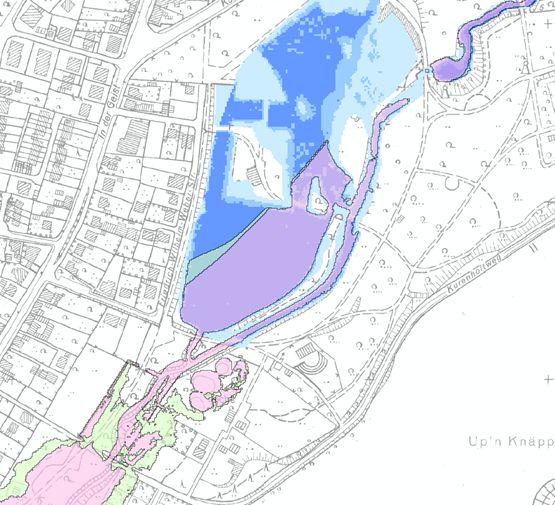 Überschwemmungsflächen Vergleich