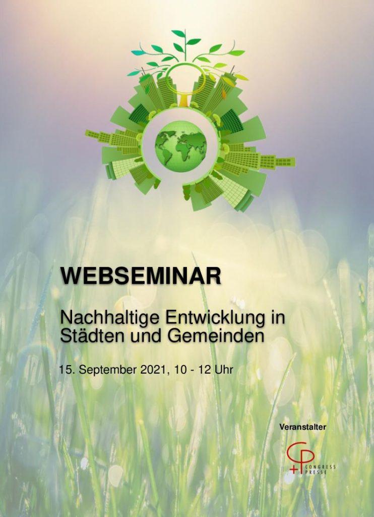 Web-Seminar Nachhaltige Entwicklung in Städten und Gemeinden