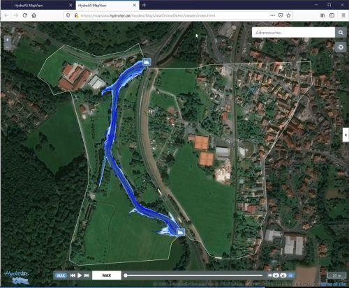 MapView Online für HYDRO_AS-2D