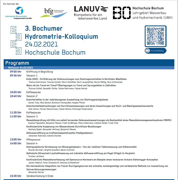Bochumer Hydrometrie-Kolloquium 2021