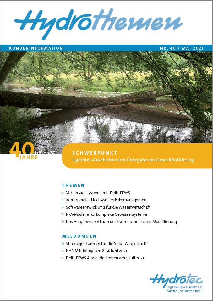Hydrothemen Nr. 40 Mai 2021